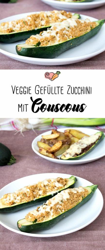 Kombi-Rezept mit & ohne Fleisch: Gefuellte Zucchini vegetarisch mit Couscous