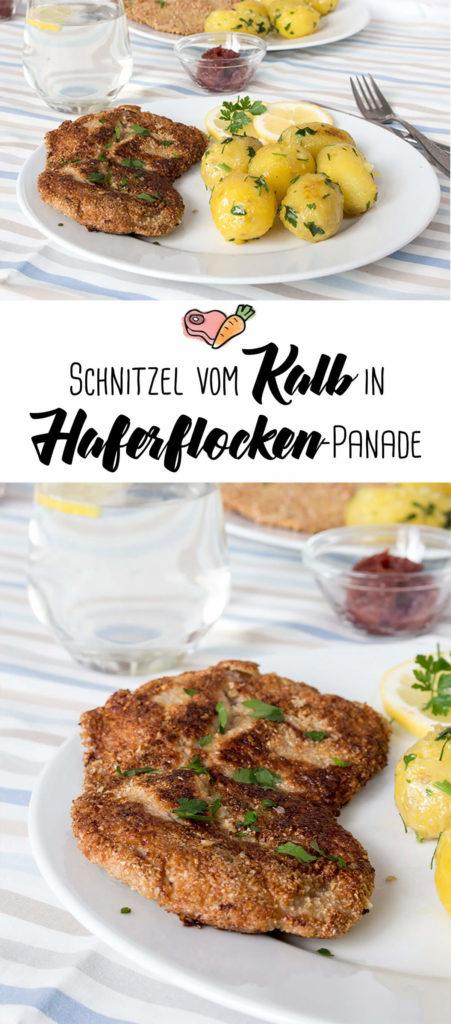 Schnitzel vom Kalb in Haferflocken-Panade | vegetarische Alternative: mit Sellerie!